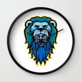 Hercules Wearing Lion Skin Mascot Wall Clock