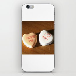 conversation heart love by cocoblue iPhone Skin