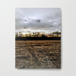 Mothership above the fields Metal Print