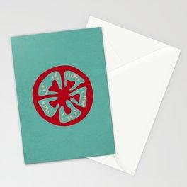 Aqua Tomato Slice Stationery Cards
