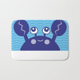 Blue Crabby Crab Bath Mat