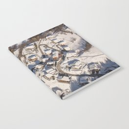 mountain village from the sky Notebook