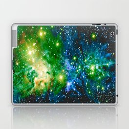 Fox Fur Nebula Teal Green Laptop & iPad Skin
