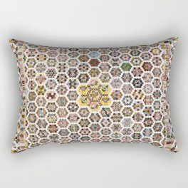 Floral Fabric Vintage Gift Pattern #20 Rectangular Pillow