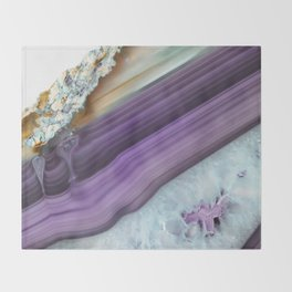 Purple Agate Slice Throw Blanket