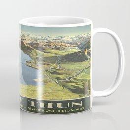 Vintage poster - Lake of Thun Coffee Mug