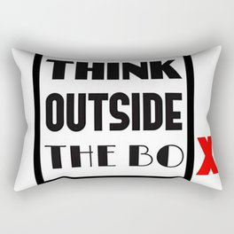 Think Outside The Box 1 Rectangular Pillow