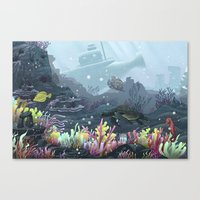 Underwater Coral Canvas Print