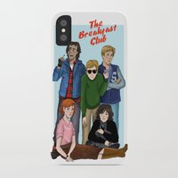 the breakfast club iPhone & iPod Cases featuring The Breakfast Club by Dasha Borisenko