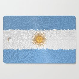 Extruded Flag of Argentina Cutting Board