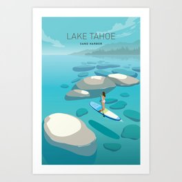 Travel Lake Tahoe Art Print