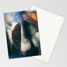 prism leaves Stationery Cards