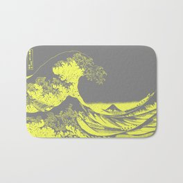 The Great Wave Yellow & Gray Bath Mat