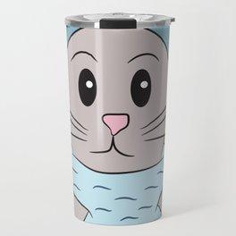 Baby Seal playing peek-a-boo Travel Mug