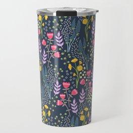 Woodland wildflowers - evening Travel Mug