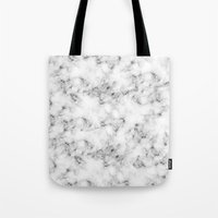 marble Tote Bags featuring Real Marble  by Grace