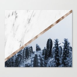 Cool marble desert blooms Canvas Print
