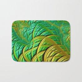 patterns green yellow string Bath Mat
