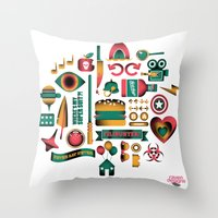 movies Throw Pillows featuring Summer Movies by RevengeLover