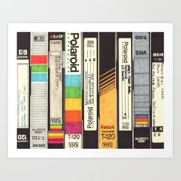 VHS Detail I Art Print