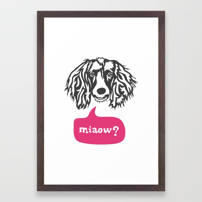 Some Dogs Are Bilingual Framed Art Print