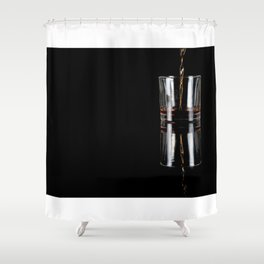 glass on black Shower Curtain