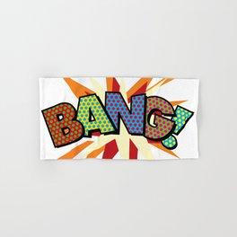 Comic Book Pop Art Sans BANG! Hand & Bath Towel