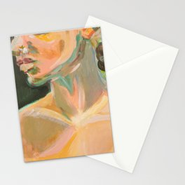 Blonde Model Stationery Cards