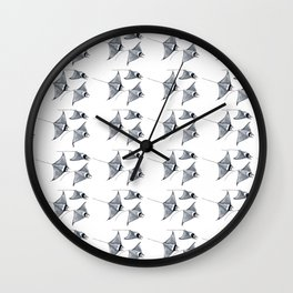Manta ray devil fish Wall Clock
