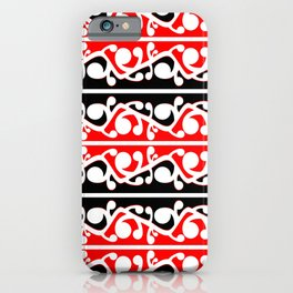 Maori Kowhaiwhai Traditional Pattern iPhone Case