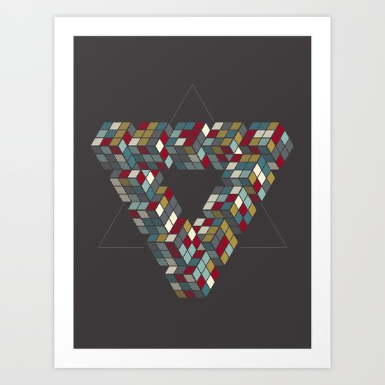 Rubik's Triangle Art Print