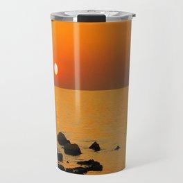 evening beach Travel Mug