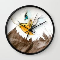 study Wall Clocks featuring Study by Caballos of Colour