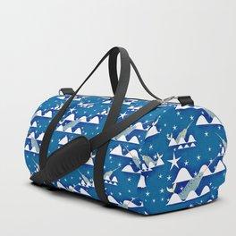 Sea unicorn - Narwhal blue Duffle Bag