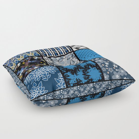 favorite blanket and pillows patchwork 2 floor pillow by