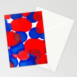 Blue Meets Red Stationery Cards