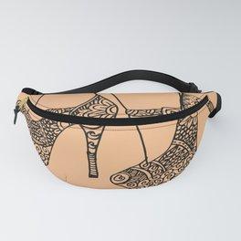 Mandala woman's shoes, high heels zentangle style, fashion art prints, printable wall art Fanny Pack