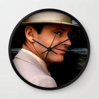 jack nicholson Wall Clocks featuring Jack Nicholson @ China Town by Gabriel T Toro