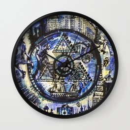 World through time Wall Clock