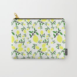 When Life Gives You - Lemon Print Carry-All Pouch