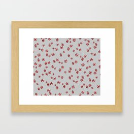 Peppermint Candy in Grey Framed Art Print