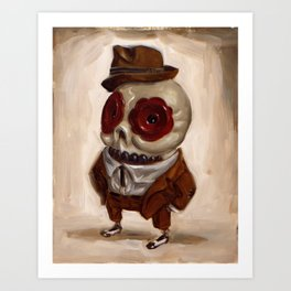 Sharp Calavera Art Print