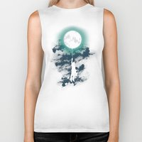 moon Biker Tanks featuring Burn the midnight oil  by Picomodi