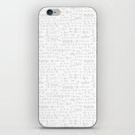 Math geek pattern with formulas iPhone Skin