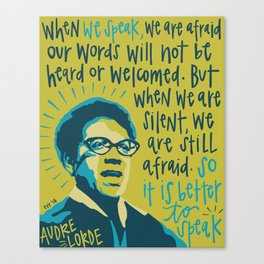 Audre Lorde. Canvas Print