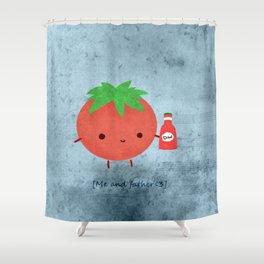 Toh-mah-toh Shower Curtain