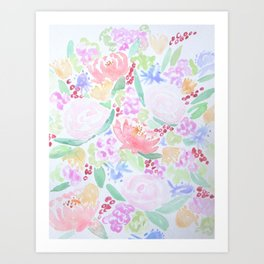 Watercolor Botanical Art Print