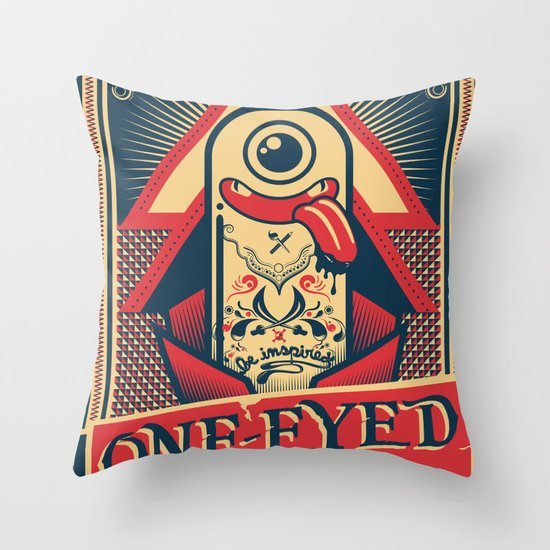 One-eyed Pirate Throw Pillow