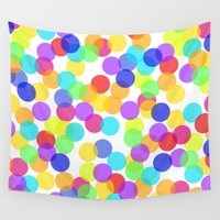 confetti Wall Tapestries featuring Confetti by The Wellington Boot