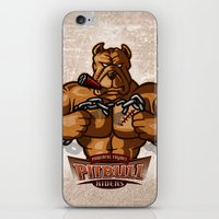 pitbull iPhone & iPod Skins featuring PITBULL RIDERS by gtrullas